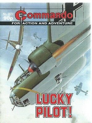 Lucky Pilot,commando For Action And Adventure,no.3572,war Comic,2002