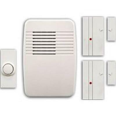 Heathco Plug-In Cordless Door Chime & Entry Alert Kit, 100 ft. Operating 9 Tone