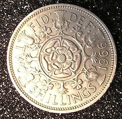 1-Coin from Great Britain. Two Shilling.  1966.