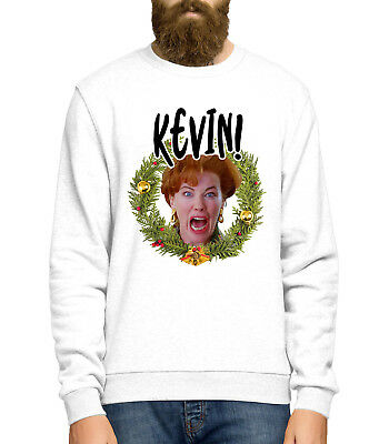 Kevins Mum Sweater Christmas Jumper Day Funny Home Scream Mens Alone Women L393