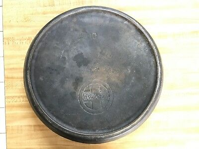 Griswold No. 10 Cast Iron Lid LID ONLY (for Chuck Wagon  Tite-Top Dutch Oven)