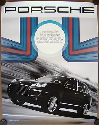 PORSCHE OFFICIAL 500hp CAYENNE TURBO DECADES SHOWROOM POSTER