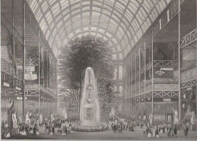 1855 Two Antique Engravings - The Great Exhibition of 1851 - Hyde Park, London