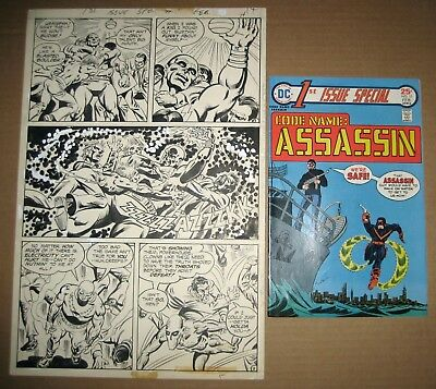 Code Name: Assassin Original Art 1976 DC 1st Issue Special #11 Key Bronze Age
