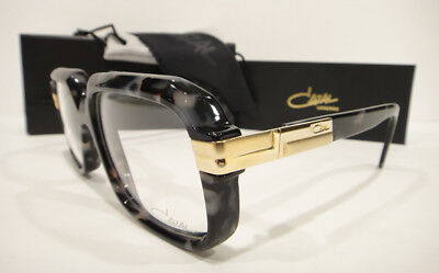 dd8b55eac7 Cazal 607 3 Eyeglasses Frames 607 Color 090 Black Marble Gold Authentic New