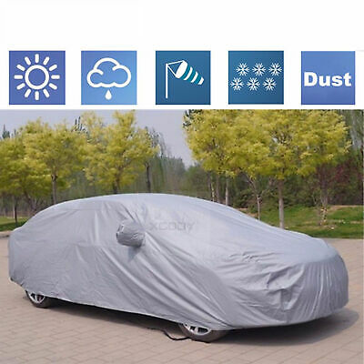 XXL Large Universal Full-size Car Cover Water Resistant UV Protection Polyester
