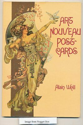 Art Nouveau Postcards by Weill, Alain Paperback Book The Cheap Fast Free Post