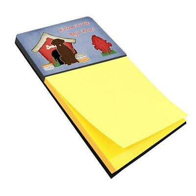 Multicolor Large Carolines Treasures BB2590SN Christmas Presents Between Friends Border Collie Black White Sticky Note Holder