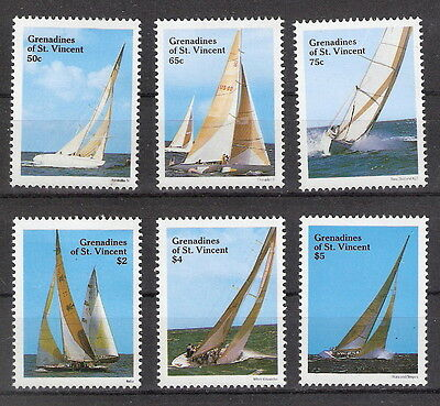 St Vincent Grenadines 1988 Yacht Racing Bequia Regatta Set MNH (SC# 579-584)