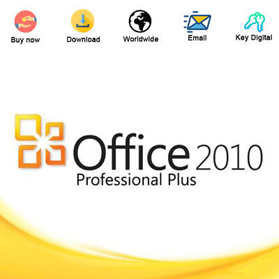 Office 2010 Professional Plus Key ACtivation 32/64 Bit Genuine