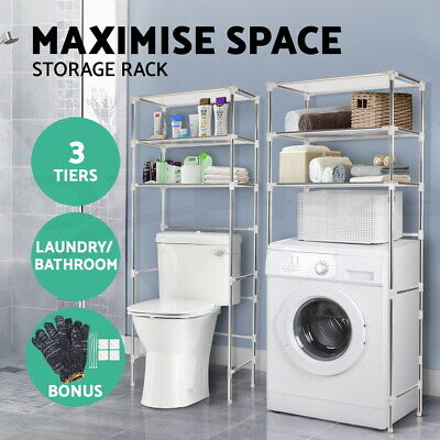 3 Tier Storage Rack Over Toilet/Bathroom/Laundry/Washing Machine Towel Shelf