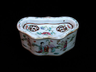 Antique Chinese Porcelain Incense Burner Ruyi Shape Four Character Mark  Perfect