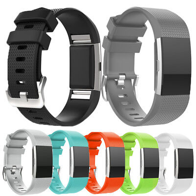 For Fitbit Charge 2 Wristband Replacement Silicone Watch Bands Straps Accessory