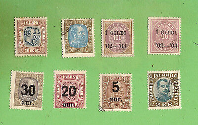 #D440. SCARCE STAMPS - ICELAND 1902 to 1921