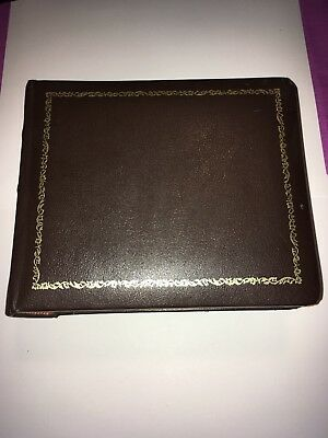 Vintage Photo Album 1940's Bounded Leather