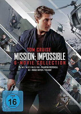 Mission: Impossible 1+2+3+4+5+6 / 6 Movie Collection # 6-DVD-BOX-NEU