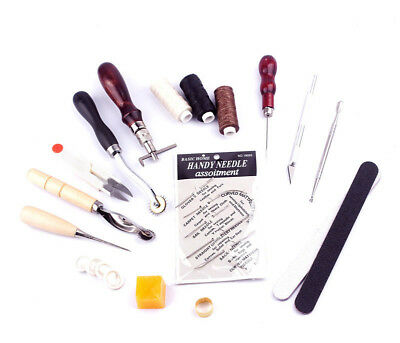 16Pcs Leder Werkzeug Leather Craft Hand Sewing Stitching Groover Tool Kits Set