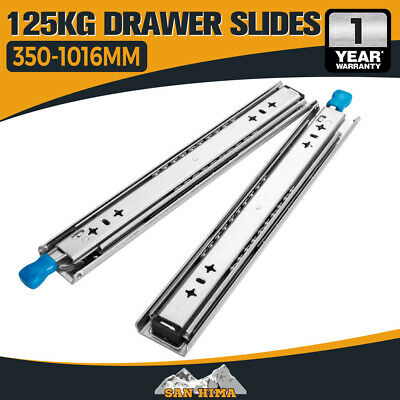 125kg Locking Drawer Slides / Runners 356mm to 1016mm 4wd Trailer Fridge Draw
