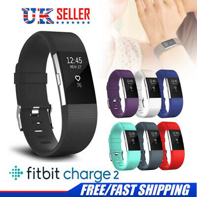 For Fitbit Charge 2 watch Replacement Band Stainless Steel Silicone Strap UK
