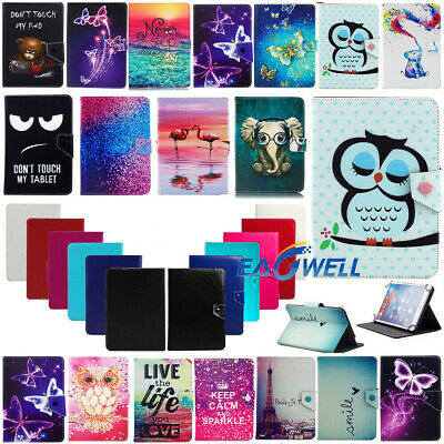 """AU For Samsung Galaxy Tab A A6 7"""" 8"""" 9.7"""" 10.1"""" Universal PU Leather Case Cover"""