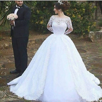 920492e46f NEW CINDERELLA PRINCESS Wedding Dresses Ball Gown Lace Pearls Arabic ...