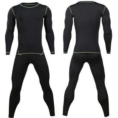 Mens High Quality Ultra-Soft Fleece Lined Thermal Base Layer Top & Bottom Set US