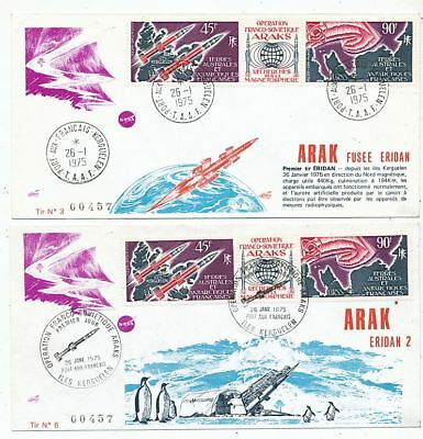 Avion Aviation  2 Fdc Terres Australes Et Antartiques Francaises Operation Araks