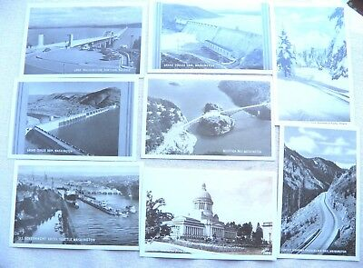 LOT Washington State Postcards - Real Photo Views - Vintage - Unposted