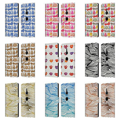Official Cat Coquillette Patterns 2 Leather Book Case For Sony Phones 1