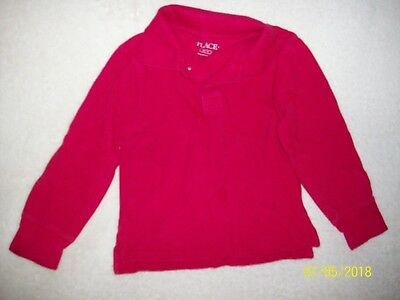 The Children's Place Red Long Sleeve Uniform Polo Shirts Size Xs 4
