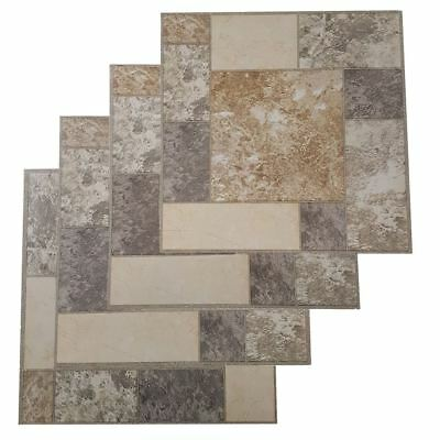 Floor Tiles Self Adhesive Vinyl Flooring Kitchen Bathroom Brown Mosaic Grey
