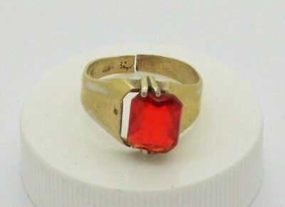 Post medieval 875 Silver ring with ruby gemstone