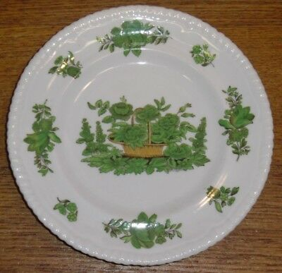 Spode Copeland China England Bread & Butter Plate - Green Basket - 6 1/8""