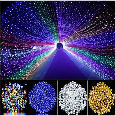 52M 500 LED Solar Power Fairy Lights String Garden Outdoor Party Xmas Decor Lamp