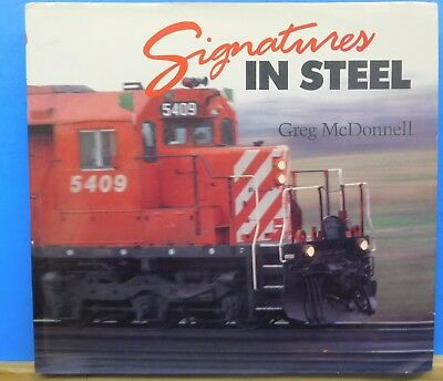 Signatures in Steel By Greg McDonnell Dust Jacket 1991 Oversize Book 208 Pages