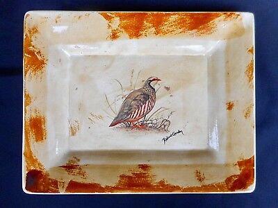 Robert Gordon Australian Pottery - Large Dish Decorated With A Partridge -Signed