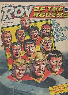 (-0-) ROY OF THE ROVERS COMIC 18th april 1987