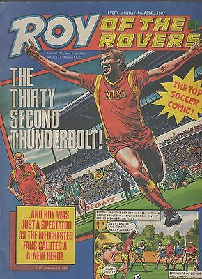 (-0-) ROY OF THE ROVERS COMIC 4th april 1987