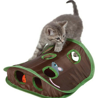 Mouse Hunt Cat Toycat Mice Toy Hide Seek Game Pops-up Collapsible Exercise Z