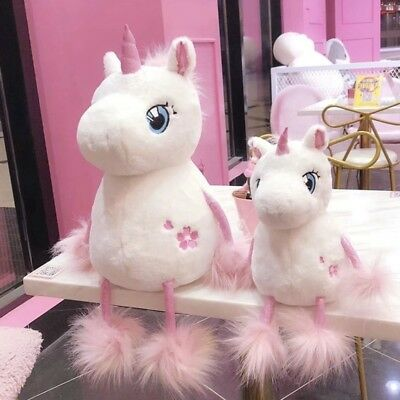 Unicorn With Long Tail Filling Soft Plush Toys For Kids For Girls Christmas Gift