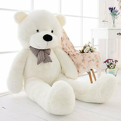 ~NEW 47''Giant Big White Teddy Bear Plush Stuffed Soft Toys doll kids Gift 120cm