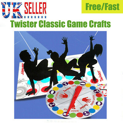 UK Fun Twister Classic Game Craft Body Twist Family Party Interactive Game -ME59