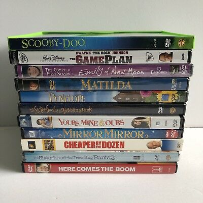 Lot of 11 DVD's Family Kids Movies * Game Plan * Scooby-Doo * Matilda * Penelope