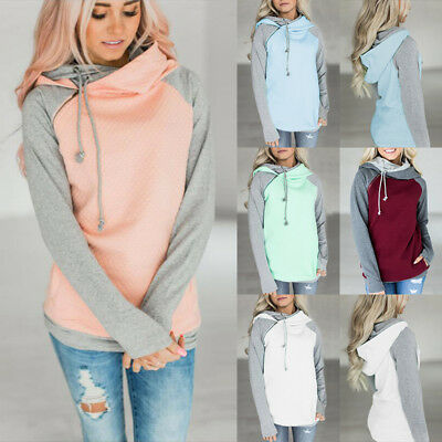 Women Long Sleeve Hoody Hooded Sweatshirt Ladies Casual Hoodies Top Plus Size