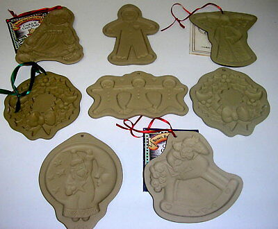 8 Lot Brown Bag Cookie Art Molds NEW