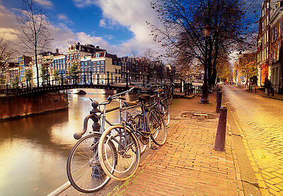 Amsterdam Holland Travel Vacation Holiday A3 Art Poster Print