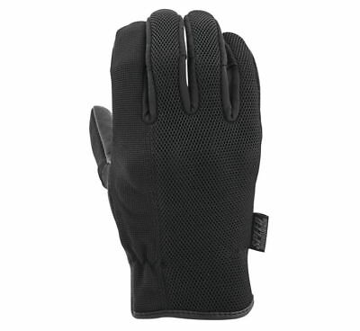 Speed and Strength Mens Last Man Standing Leather-Mesh Gloves - Black