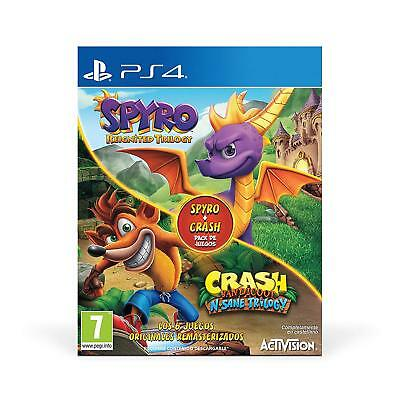 Spyro Reignited Trilogy + Crash Bandicoot N. Sane Trilogy Ps4 Pal España Nuevo