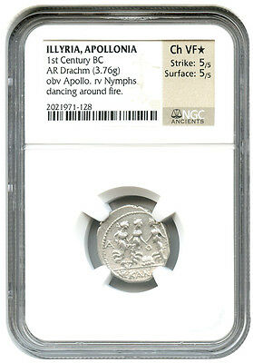 1st Century BC Drachm NGC Ch VF * Star *(Ancient Greek)
