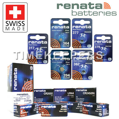 Renata Swiss Made Watch Battery 317 321 362 364 377 379 394 1620 2016 2025 2032